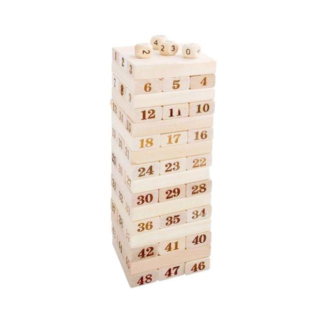 Wewoo Jeu construction Diy 48 blocs de en bois de pile de Pcs