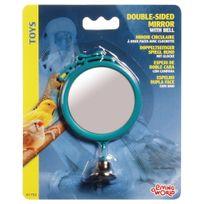 Living World - Miroir Circulaire à Deux Faces avec Clochette - 7cm