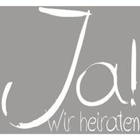 Rayher Hobby - Rayher 2872700 Tampon Ja Wir Heiraten-lot De 6 X 6 Cm
