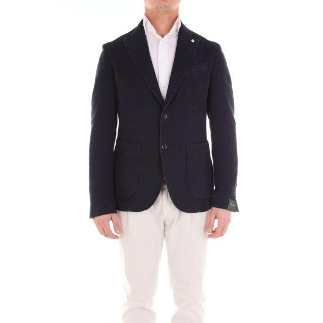 Brando Homme 285785074BLUE Bleu Coton Blazer