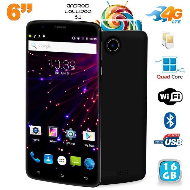 Yonis Smartphone 6 pouces 4G Android 5.1 Lollipop Dual Sim 2Go Ram 16Go