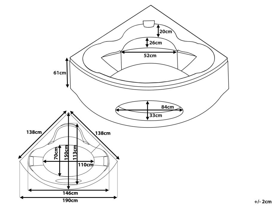 baignoire dimensions dimensions with baignoire dimensions. Black Bedroom Furniture Sets. Home Design Ideas