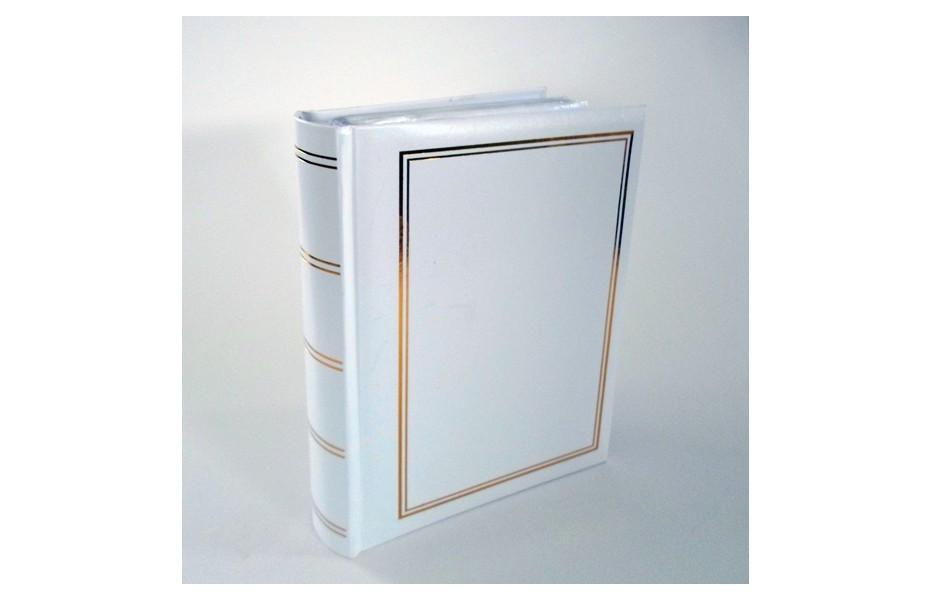 Album photo blanc 200 photos 10x15 cm à pochettes reliure livre