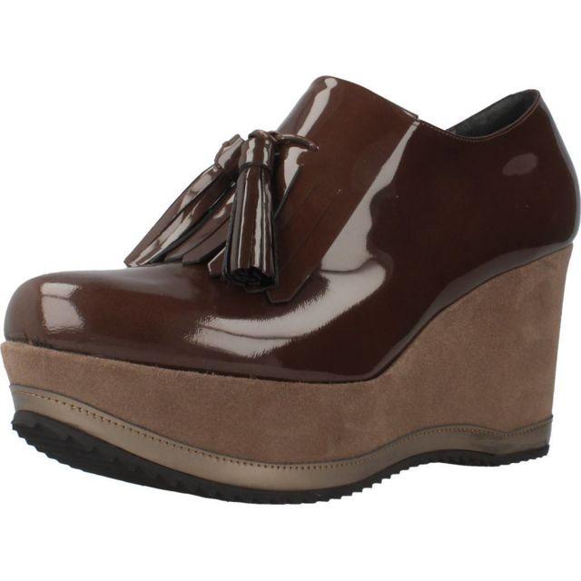 Bruglia Mocassins et chaussures bateau femme 6075, Marron