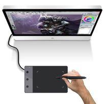 Yonis - Mini tablette graphique 5 pouces dessin digital stylet sans fil noir