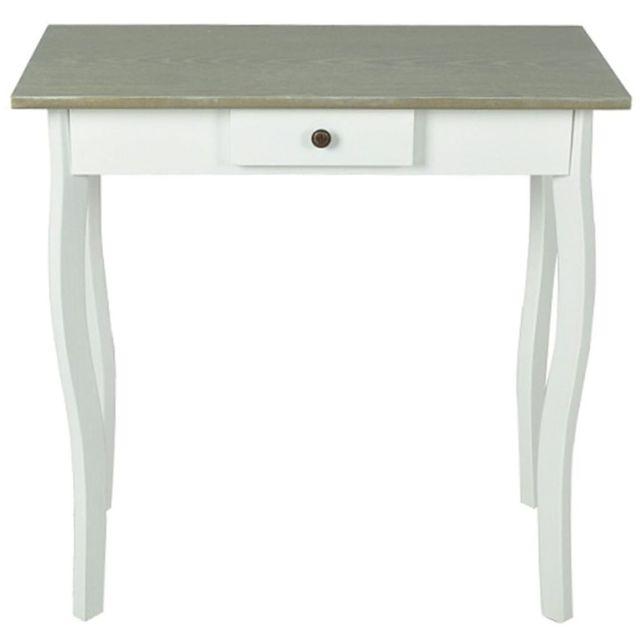 Splendide Consoles categorie Naypyidaw Table console Mdf Blanc et marron grisâtre