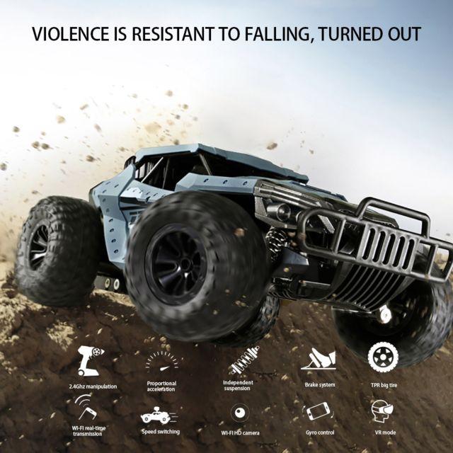 Generic Chaude haute vitesse télécommande 4 roues motrices voiture camion tout-terrain enfant jouets cadeau - Bleu
