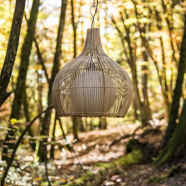 Wanda Collection Lampe suspension en osier 41 cm