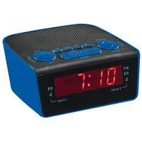 Clip Sonic - Radio réveil Pll Bleu - Ar314B Clipsonic