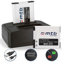 mtb more energy® - 2 Batteries + Double Chargeur USB, pour Dmw-bcm13 /Panasonic Lumix Dmc-ft5, Ts6, Tz37, Tz40, Tz60, Tz70, Tz71, Zs30, Zs40 - v. liste