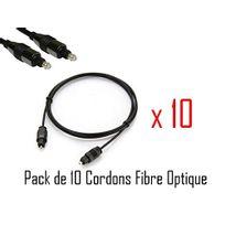 Cabling - 10 x 1.80m de câble Toslink qualité professionnelle - Plaqué or 24 carats - bouchons en métal - 5 mm qualité supérieure - Digital Optical plomb - S / Pdif - Stéréo - Audio - Eiaj optique - Fibre optique