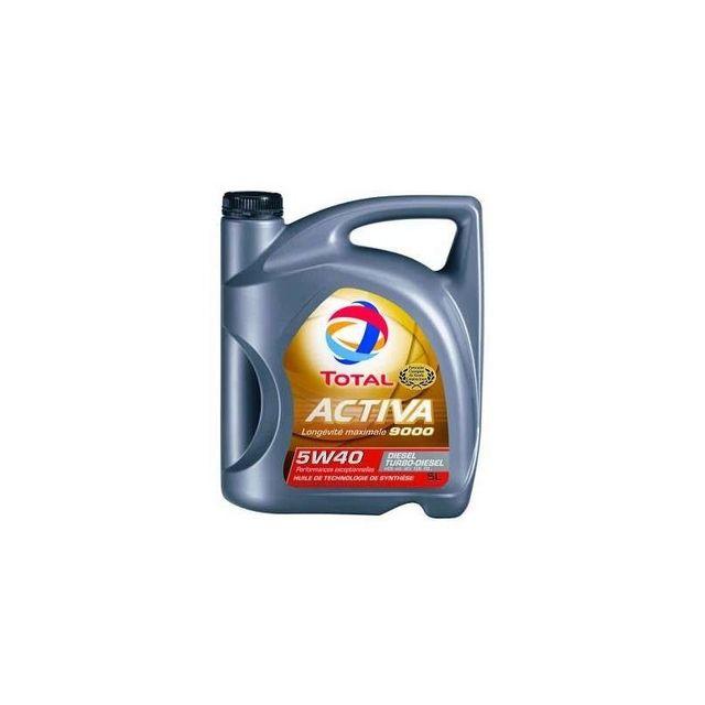 total huile moteur activa diesel 9000 5w40 5l achat vente huiles moteurs pas cher. Black Bedroom Furniture Sets. Home Design Ideas