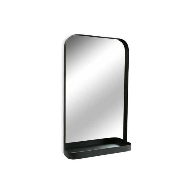 Declikdeco Vous cherchez un grand miroir pour habiller le mur de votre salle de bain ? Le Miroir Mural Kozel à la couleur noire trè