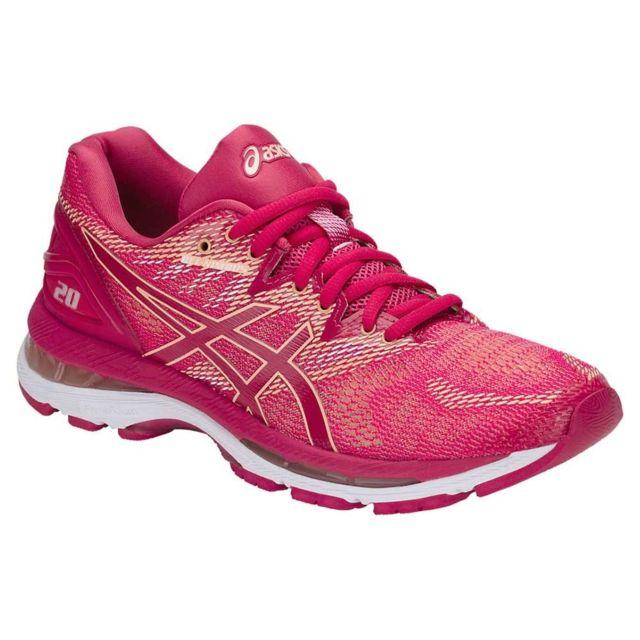 huge discount 71e9a cc5f6 Asics - Asics Gel Nimbus 20 Rose Et Abricot chaussure running asics femme