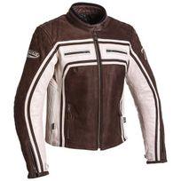Segura - blouson moto cuir femme Lady Jones vintage toutes saisons marron-mastic Scb1063 T0 36