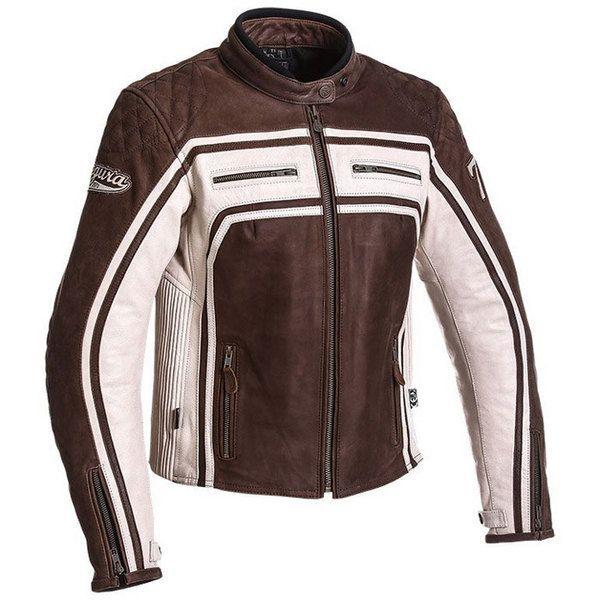 Segura - Segura blouson moto cuir femme Lady Jones vintage toutes saisons  marron-mastic Scb1063 dd5db4f7275