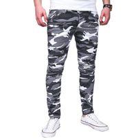 Marque Generique - Jeans fashion camouflage Jeans 3219 blanc