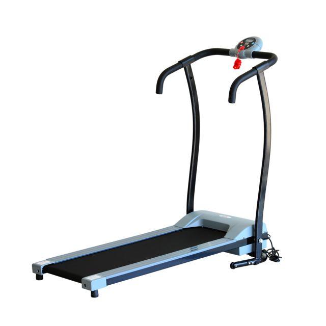 Homcom tapis roulant lectrique de marche fitness 450 w gris noir pas cher achat vente - Tapis de marche electrique pas cher ...
