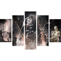 Graham & Brown - Star Wars Tableau déco multi panneaux Xxl 150x100 cm gris