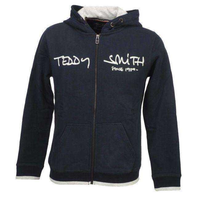Teddy Smith Vestes sweats zippés capuche Giclass navy fz