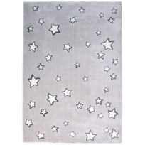 1 Pied Sur Terre - Tapis Sweet Dream gris chambre enfant par - Couleur - Gris, Taille - 120 / 170 cm