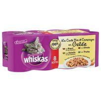 Whiskas - Boîtes La Carte Mer et Campagne en Gelée pour Chat - 8x500g