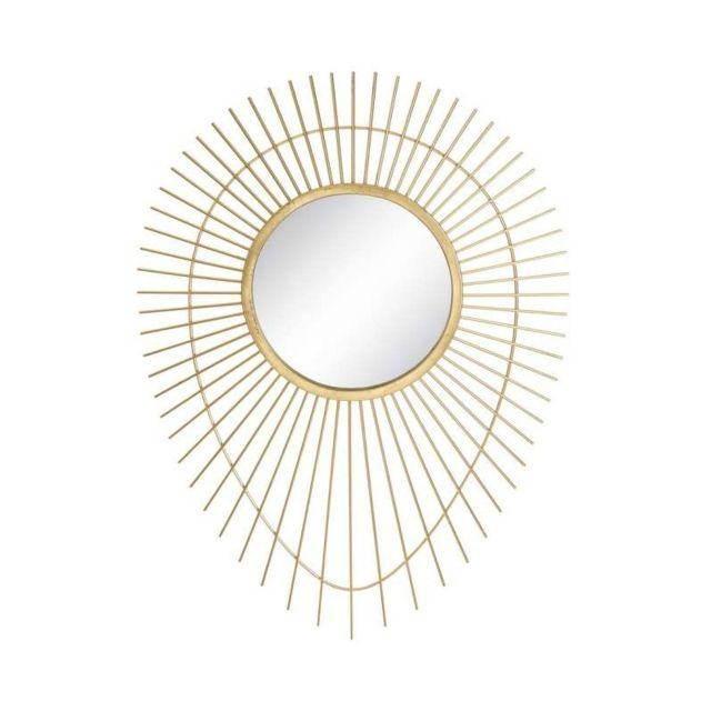 Ma Maison Mes Tendances Miroir en métal doré Anatole - L 77.5 x l6.5 x H 105