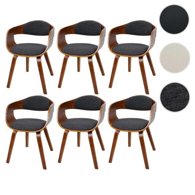 chaise de manger Hwc Mendler a47design rétro à 6x salle wOnP80k