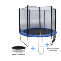 Concept Usine - Trampoline 370 cm + Filet de protection + Bâche de protection + Echelle + Filet de rangement