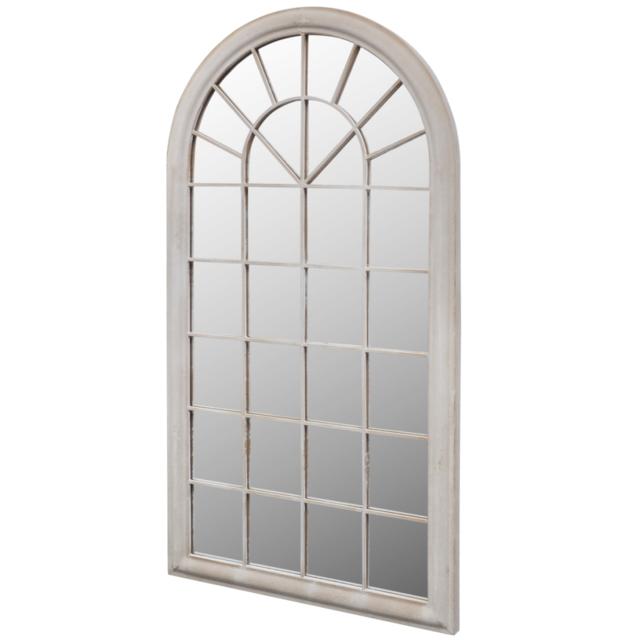 Rocambolesk - Superbe Miroir de Jardin Arche rustique 116 x 60 cm Intérieur et Extérieur Neuf