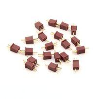Flug51 - Fl168 -10 Paire PlaquÉ Or Connecteur En T 10A 30A Et Bouchon De Prise Pour La Batterie Lipo Rc Nimh De Mini-micro Dean