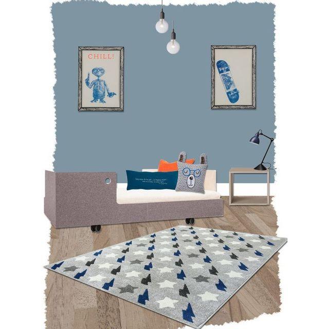 Tapis Bolt Bleu pour décoration chambre enfant par - Couleur - Bleu, Taille  - 120 / 170 cm