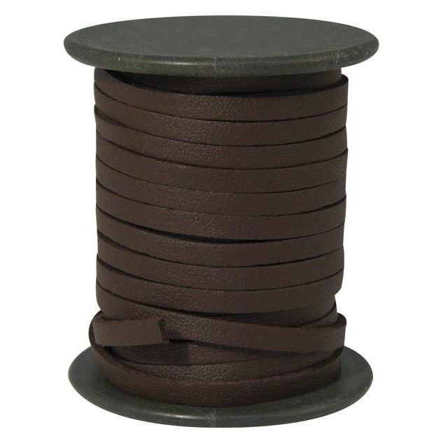 rayher lani re cuir synth tique 4 mm plat brun fonc au. Black Bedroom Furniture Sets. Home Design Ideas