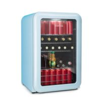 KLARSTEIN - PopLife Réfrigérateur à boissons minibar 115 litres 0-10°C design rétro bleu