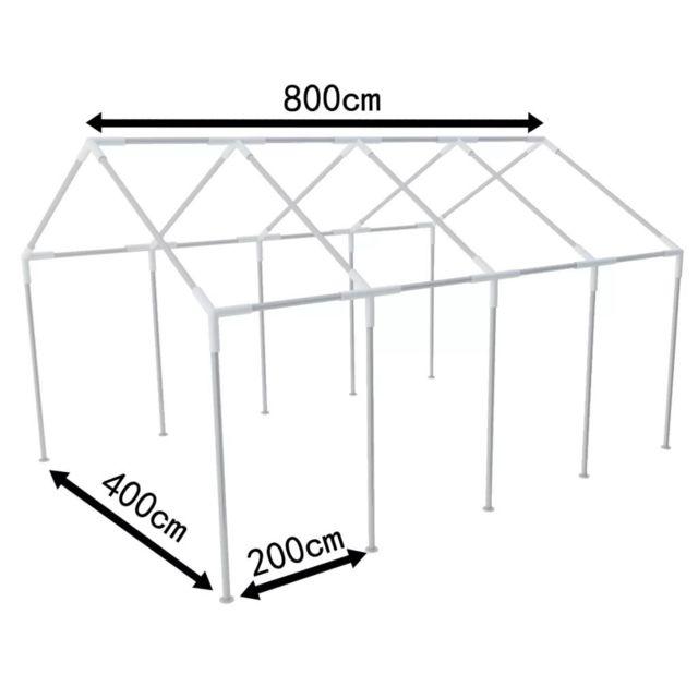 Icaverne - Cadres pour auvents et abris ensemble Structure de tente  chapiteau pavillon jardin 8 x 4 m