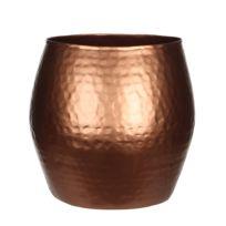 Mica - Vase en métal cuivré effet martelé Malu