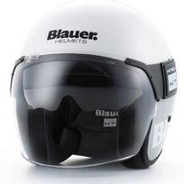 Blauer - casque jet moto scooter Pod fibre blanc-titane brillant M