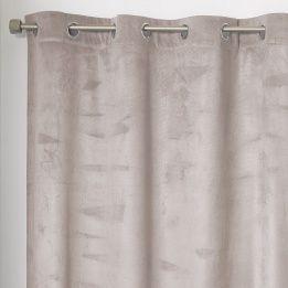 Marque Generique - Rideau 140 x H240 cm, Romantic Taupe