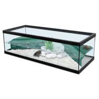 Zolux - Aquarium Pour Tortue D'EAU Tortum 100 Noir + Filtre
