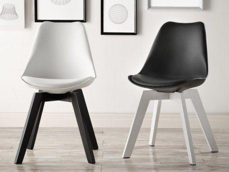 chaise polipropylène pied noir