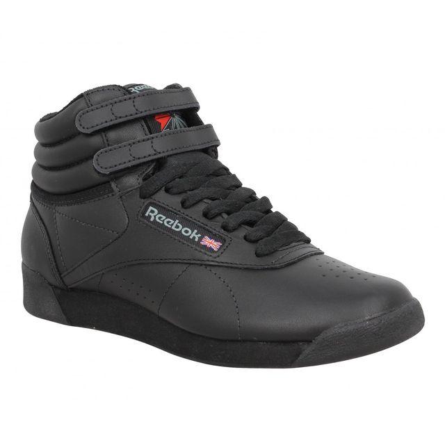 d05b63a34da77 Reebok - Freestyle Hi cuir Femme-37,5-Noir - pas cher Achat   Vente Baskets  femme - RueDuCommerce