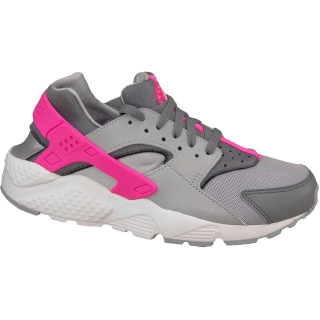 Nike - Huarache Run Gs 654280-006 Enfant mixte Baskets Gris