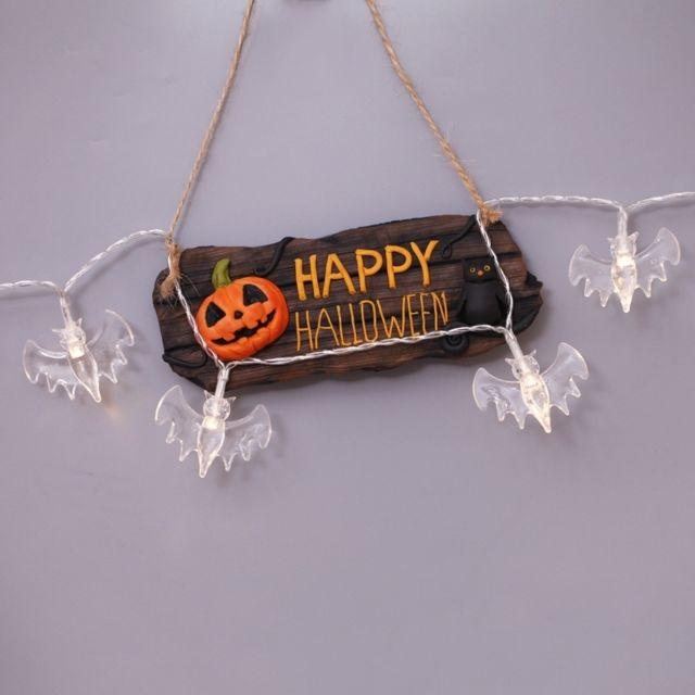 Wewoo Chaîne de chauve-souris de 2,5 m, lumière blanche chaude, série Halloween, 20 Led, 3 piles Aa, boîte à piles, accessoire