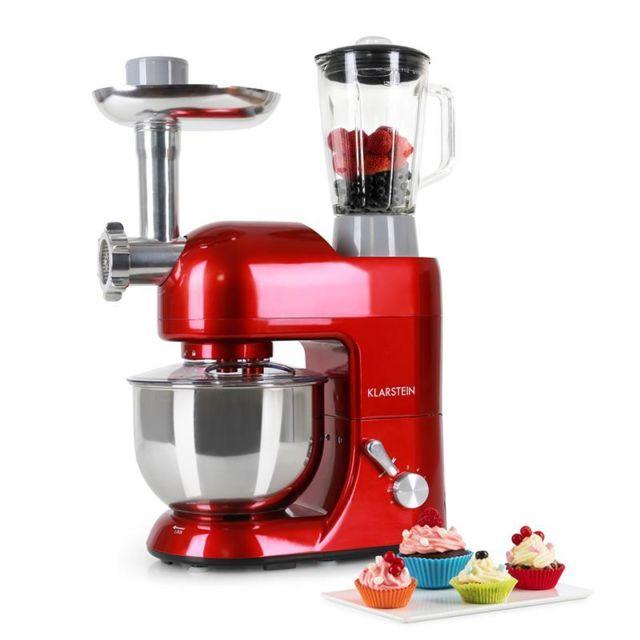 KLARSTEIN - Lucia Rossa Robot de cuisine mixeur multifonction + hachoir - rouge
