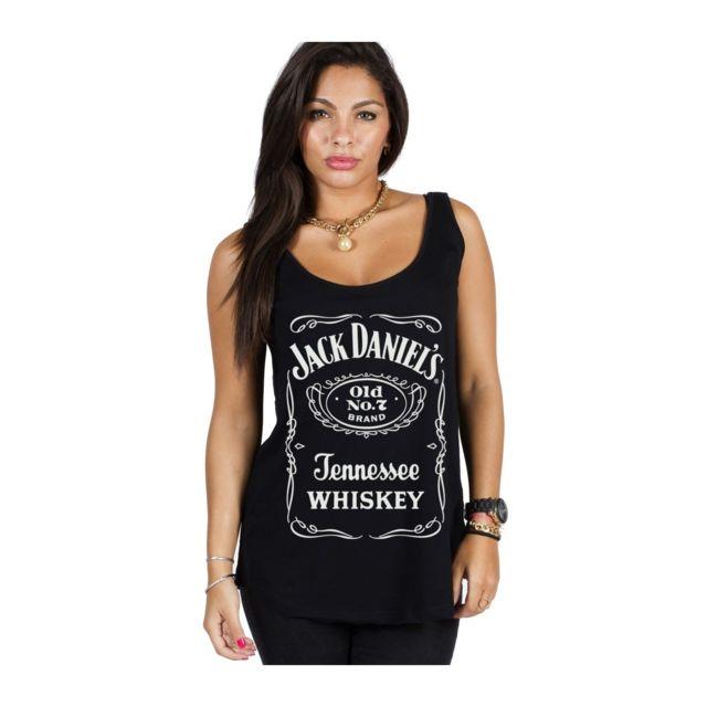 f530609eedba9 Magiccustom - Jack Daniel'S - Debardeur Femme Original Logo - pas ...