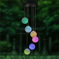 Forme Lumière Lampe 6 Multicolore Leds Solaire Carillons Décoration Led QxeoWCrBd