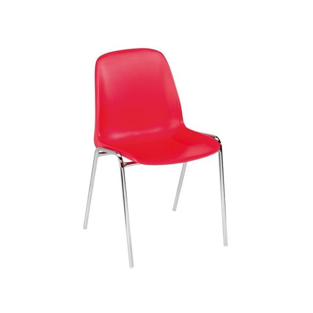 Dipiplast Chaise coque Selena - rouge - Lot de 4