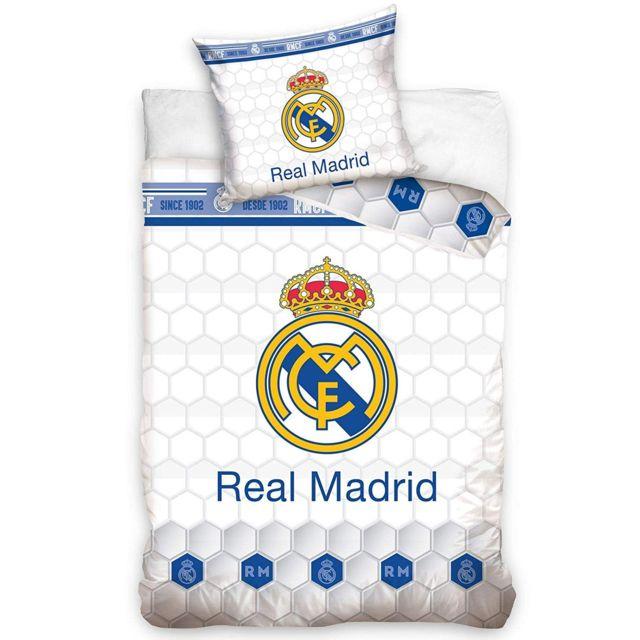 Bebe Gavroche Parure de lit Real Madrid blanc 100% coton 140 x 200 cm