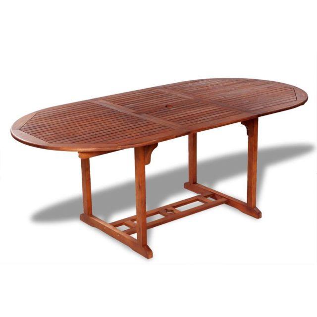 Vidaxl Table de salle à manger d'extérieur extensible en bois d'acacia   Brun