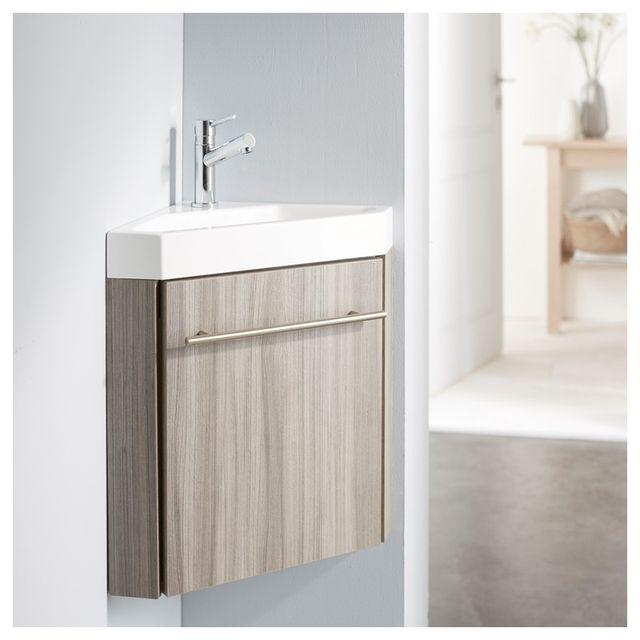 Planetebain - Lave-mains d\'angle complet pour Wc avec meuble couleur ...